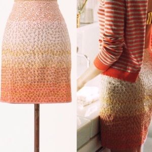 Anthropologie HD In Paris Ombre Petals Linen Skirt